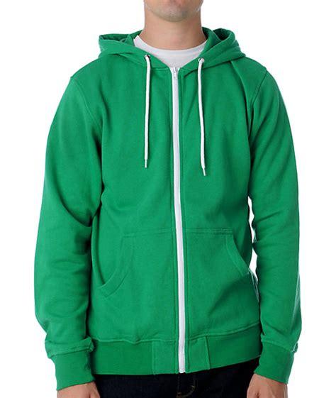 green hoodie green zip up hoodie trendy clothes
