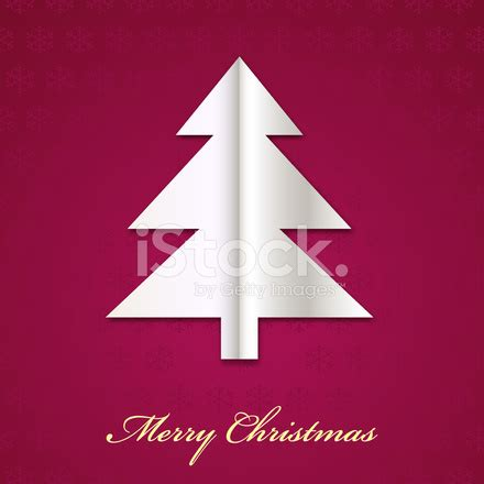 vector christmas tree made from paper stock vector