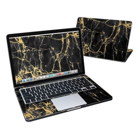 Macbook Pro 13 Marble Black Gold macbook pro retina 13in skin black gold marble by marble