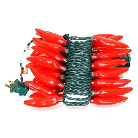 red chili pepper lights vickerman 25726 35 light 48 quot red chili pepper string