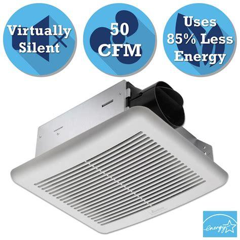 delta bathroom fans delta breez slim series 50 cfm wall or ceiling exhaust