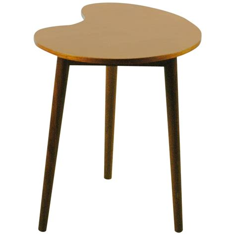 Teak Side Table Shaped Scandinavian Teak Side Table At 1stdibs