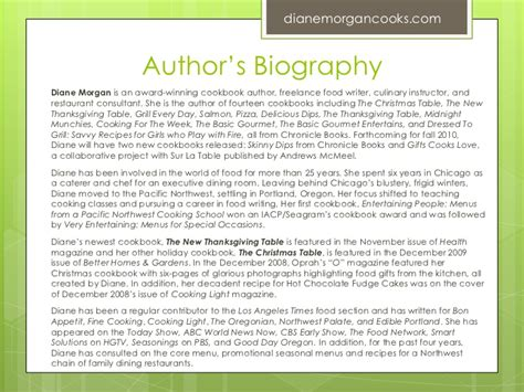 biography exles for books writing and selling a winning book proposal diane morgan