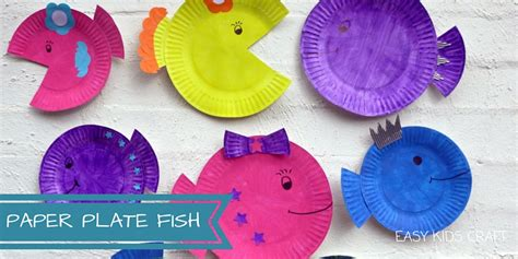 How To Make A Paper Plate Fish - paper plate craft archives easy craft