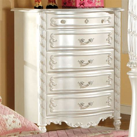 Dresser Alexandria La by Alexandria Chest Of Drawers In Pearl White