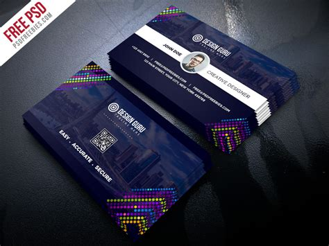 creative business card template free psd psdfreebies com