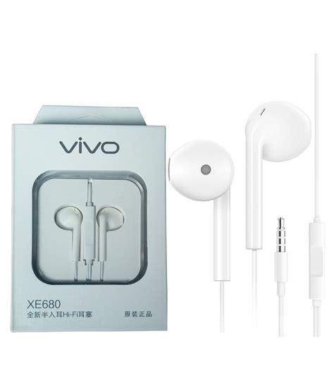 Handfree Vivo Original vivo xe680 in ear wired earphones with mic buy vivo