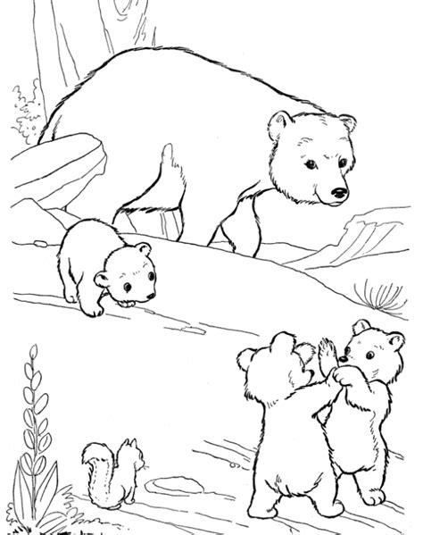 Belajar mewarnai gambar binatang untuk anak - beruang yang