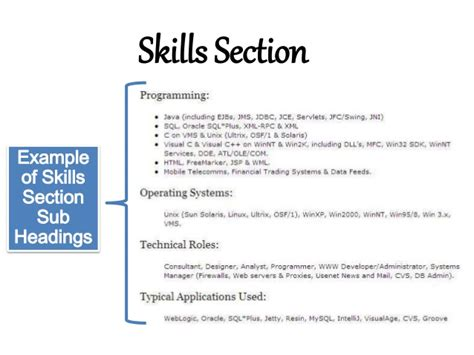 what to put under skills section of resume resume writing