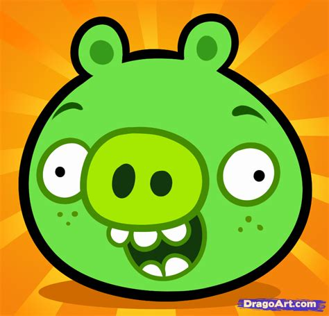 how to a bad how to draw bad piggies step by step characters pop culture free
