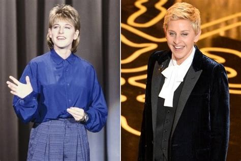 ellen degeneres then and now then now famous comedians before they were famous for