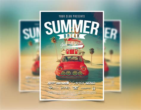 summer flyer template flyers designs graphicfy