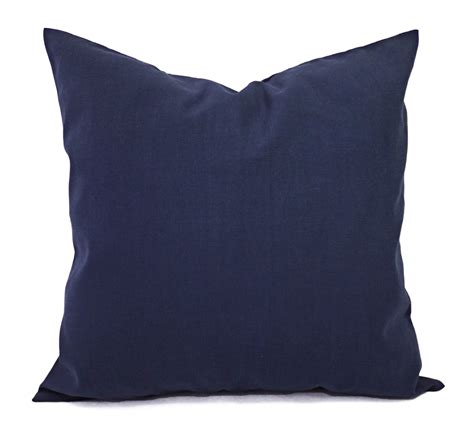 Two Solid Navy Throw Pillow Covers Navy Couch Pillow Covers Pillow Covers For Sofa