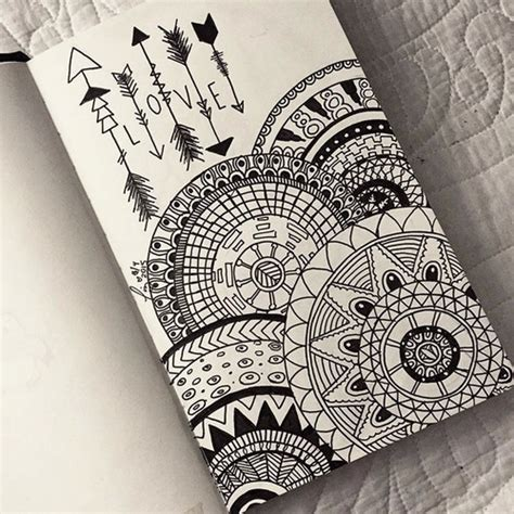 imagenes de mandalas hipster tumblr arte black and white cute dibujos love image