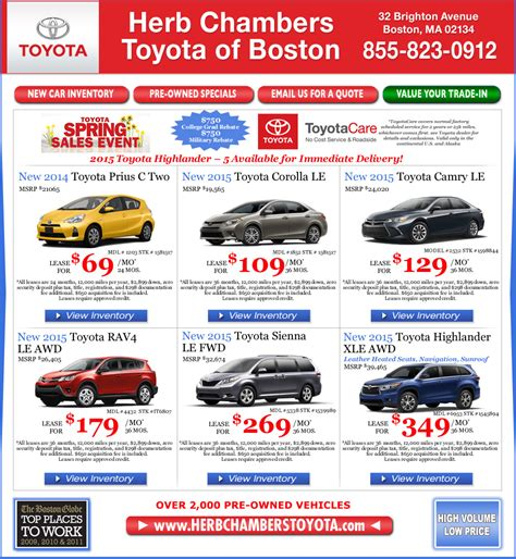 Herb Chambers Toyota Of Boston Herb Chambers Dealership Locations Greater Boston Area