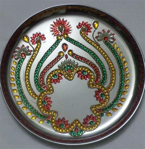 Pooja thali   Decorations   Thali decoration ideas, Diwali
