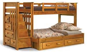 bunk beds with stairs and drawers wooden bunk beds twin over full with stairs home