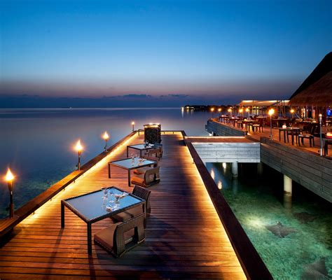 Muskoka Interior Design The Exotic W Retreat Amp Spa Maldives With Luxury Bungalows