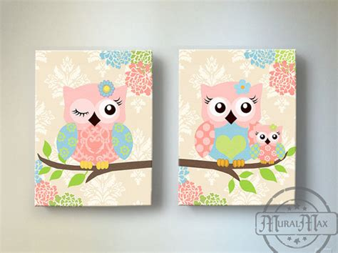 Owl Wall Decor For Nursery Wall Owl Nursery Baby Owl Decor Owl Nursery