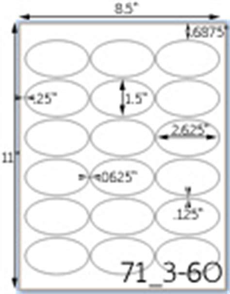 Oval Label Sheets Inkjet Oval Labels Laser Oval Labels Oval Label Template 18 Per Sheet