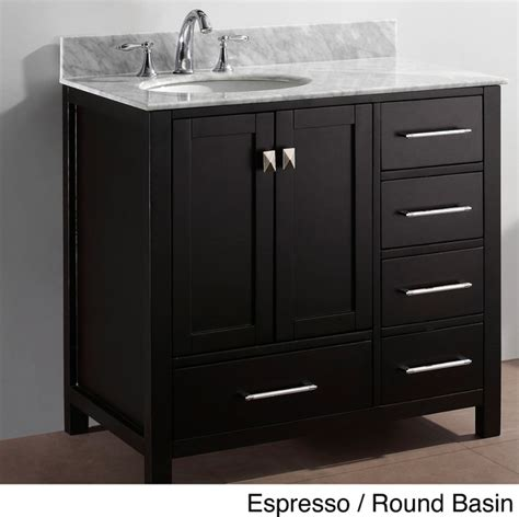 36 In Vanities by Virtu Usa Caroline Avenue 36 Inch Single Sink Bathroom
