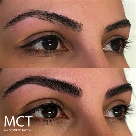 tattoo eyeliner ta 3d eyebrow tattoo before and after www imgkid com the