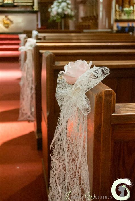 Aisle End Wedding Decorations wedding aisle decorations lace bow pew ends with single