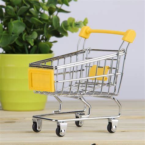 shopping cart ornament storage shopping cart trolley desktop decor ornament toys