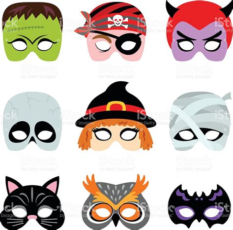 download printable halloween masks halloween printable masks stock vector art more images