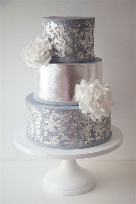 Silver Wedding Cake by Wildflower Wedding Cake Www Pixshark Images