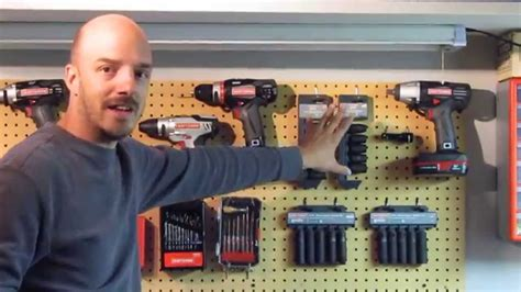 Craftsman Style Garage Plans organizing tools on pegboard youtube