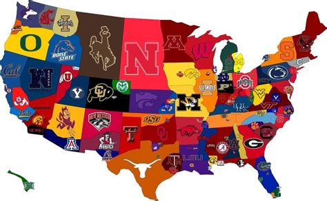 United States Map Of Colleges by The United States Of College Football The Roosevelts