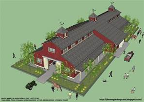 large barn floor plans home garden plans b20h large horse barn for 20 horse stall 20 stall horse barn plans