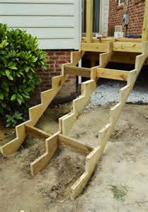 Outside Handrails For Stairs How To Build A Deck It S Done Young House Love