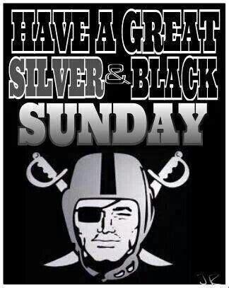 Black Sunday Raiders Fans Ukuran S silver black sunday nation baby