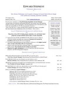 executive hotel gm resume hashdoc