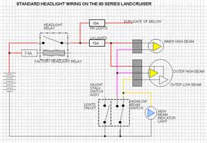 80 series lights upgrade wiring harness and fuse load exploroz forum