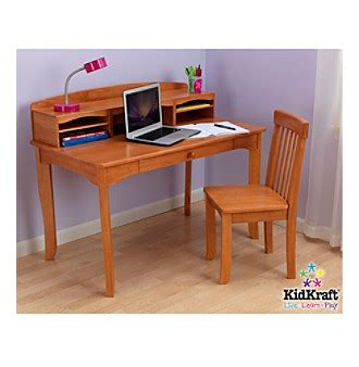 kidkraft avalon desk with hutch and chair honey