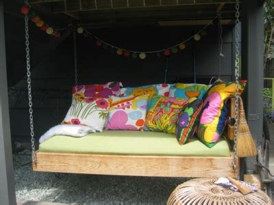 how to make swing bed dishfunctional designs this ain t yer grandma s porch