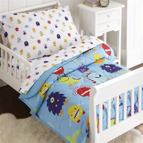 Kids Bed In A Bag Olive Kids Monsters 4 Piece Toddler Size Bed In A Bag Set