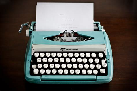 Robin Egg Blue by The Wolfepack Chronicles Typewriter