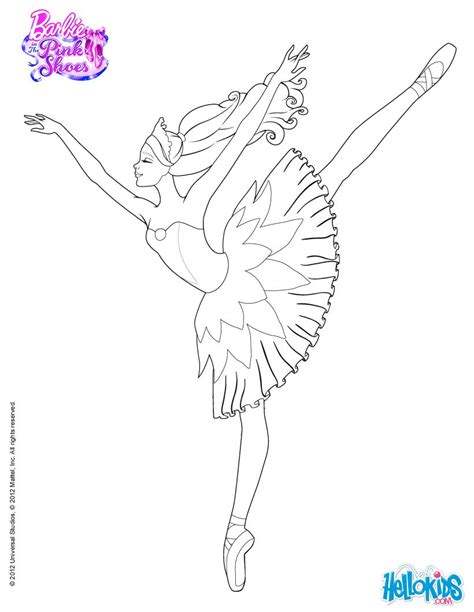 barbie dance coloring page barbie is dancing with the pink shoes coloring pages