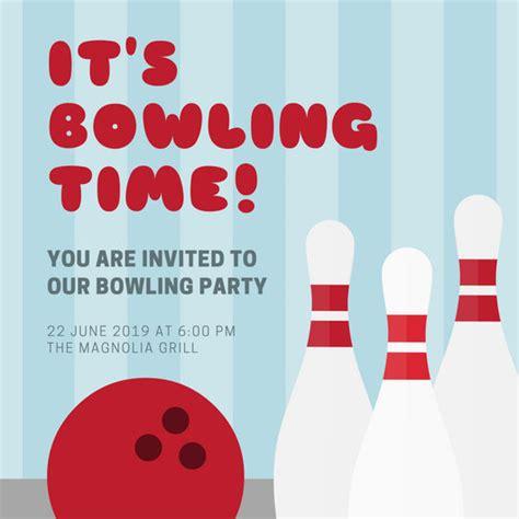 Bowling Invitation Templates Canva Bowling Invitation Template