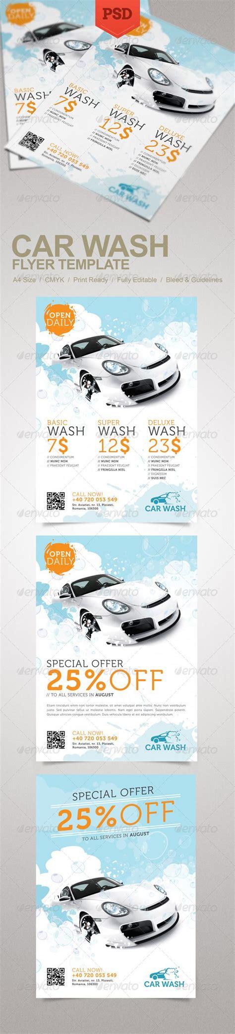 car wash template car wash flyer creative flyers car wash and flyer template
