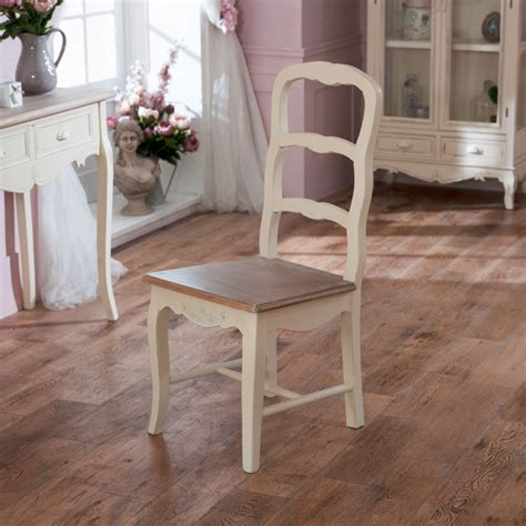 cream wood dining chair shabby vintage chic ornate dining