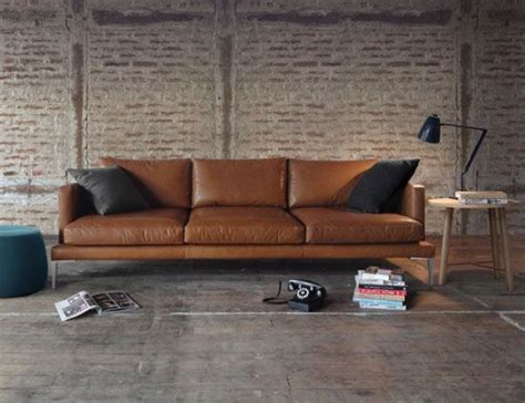 modern brown leather sofa 17 best ideas about modern leather sofa on