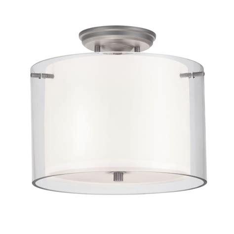 Dvi Lighting Fixtures Dvi Lighting Dvp9013bn Op Buffed Nickel With Half Opal Glass Essex 2 Light Semi Flush Ceiling