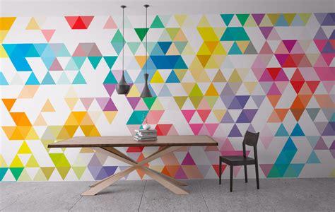 geometric pattern wall canvas wall art geometric mid century triangles