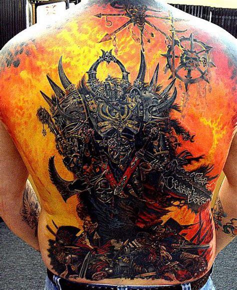 extreme fantasy tattoo warhammer back piece by optimuspint on deviantart