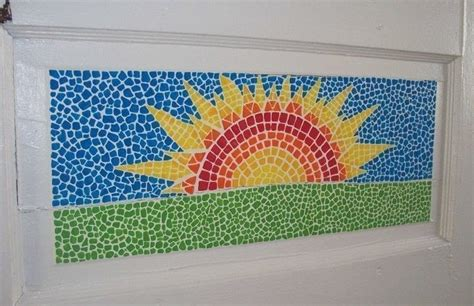 faux mosaic painted     piece  mosaic art